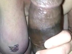 Blonde MILF Interracial cocksucking