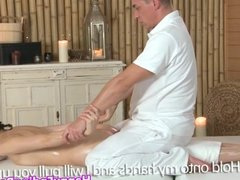 Massage beauty getting bigtits rubbed