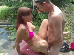 German Step-Mom Seduce To Fuck Outdoor