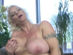 Big breasted milf playing with  1fuckdatecom
