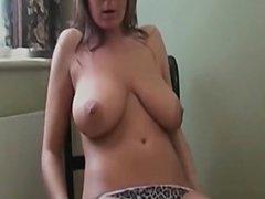 Big titted brunette masturbates 1fuckdatecom