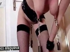 Self training with heavy weights slave Jennif