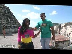 Tourist fuck ebony girl in Cartagena