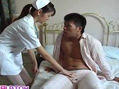 Hijiri Kayama sucks patient dick and fucked