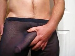 Big Cock Sheer Pants Cum