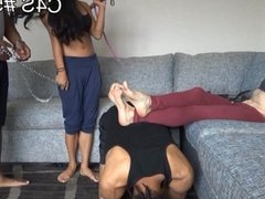 New raceplay girls facestomping foot fetish