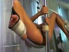 Brunette Hottie Sex Swing