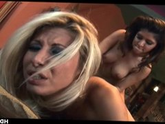 Pair of sultry pornstar lesbos are toy fuckin