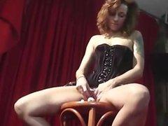 Redhead milf plays with dildo and dates25com