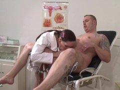 German Nurse want a Semen Example and get it
