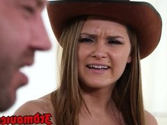 Abby Cross is your cowgirl fuck fantasy now