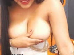 Big titted latina shows off her boobs on cam