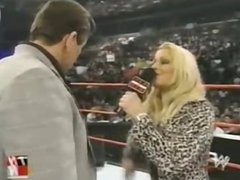 Trish Stratus braks like a dog then strips