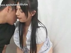 Shy Japanese girl doing nasty things from  AD