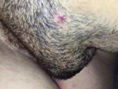 Licking a really hairy Vagina