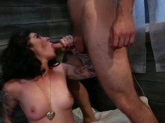 delicate punk pornstar enjoying fetish three