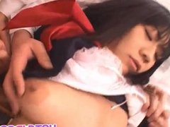 Saya Misaki fucked in mouth and crack