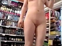 Redhead nude in the store dates25com