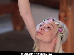 Skinny Blonde Gets Tied and Chained