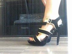 Capri Cavanni in her high heels