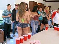 4 Sluts Invade College Dorm Room 1