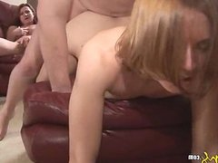 Amateur Threesome: Wife Watches Hubby Fuck