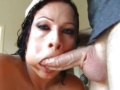 Gianna Michaels swallowing cock meat HOT!