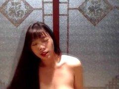 Hairy Asian Girl Masturbating