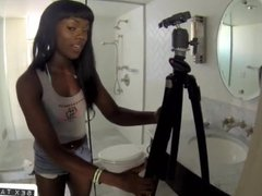 Luscious interracial lesbos shower sex
