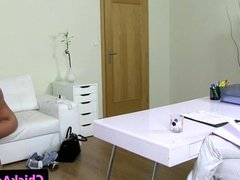 European casting threeway with a real couple