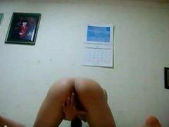 dates25com Asian geek girl masturbates on cam