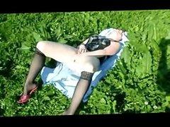 dates25com German teen outdoor dildo fucking