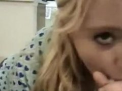 Shy blonde talked into a blowjob an dates25co