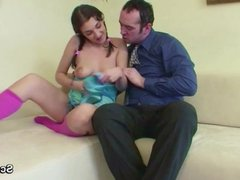 German 18yr old Step-Daughter Seduce Old Dad