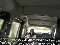 Natural busty ebony Brit gets banged in a cab
