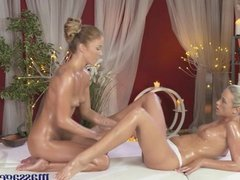 Massage Rooms Sexy lesbians cum intensely