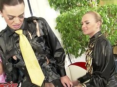 Sexy student bondage slave