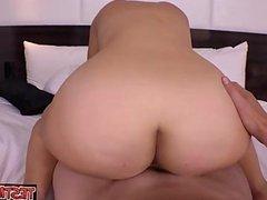 Cute pornstar riding cock