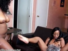 white slave eating out black femdom pussies