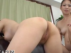 Horny slut cock licking scene