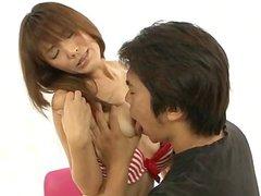 Nagisa Aiba gets horny guy to stimulate her