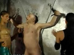 Two Dominatrix Punishes A Lone Slave