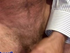 Mature facialized bears ass fingered by jock
