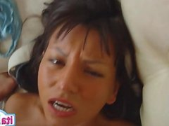 Young girlfriend crying anal