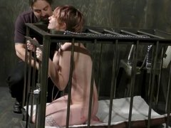 Mercy West Shocked In the Cage