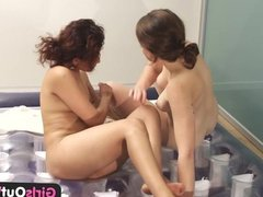 Girls Out West - Massage with hairy lesbians