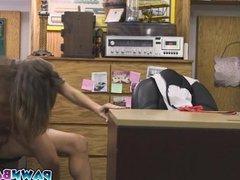 Card dealer started undressing herself