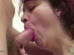 Mother Seduce German Step-Son to Fuck her