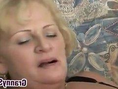 Horny Grandma In Fishnets