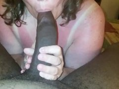 Amateur MILF Interracial Blowjob